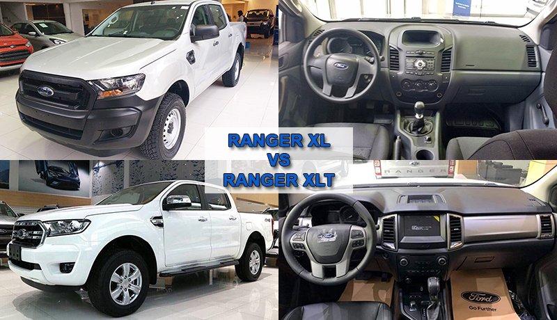 So sánh các phiên bản ở xe bán tải Ford Ranger